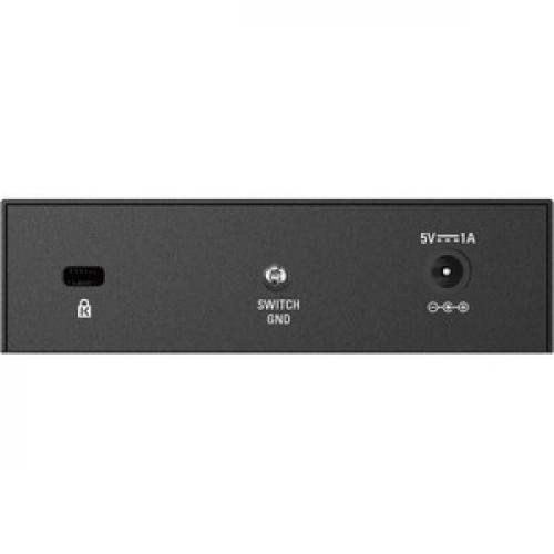 D Link DGS 105 5 Port Gigabit Unmanaged Metal Desktop Switch Rear/500
