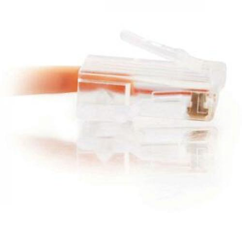 C2G 3ft Cat5e Non Booted Crossover Unshielded (UTP) Network Patch Cable   Orange Right/500