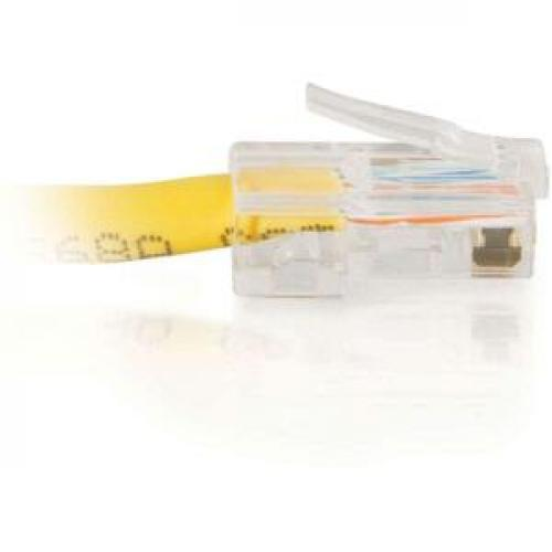 C2G 7ft Cat5e Non Booted Crossover Unshielded (UTP) Network Patch Cable   Yellow Right/500