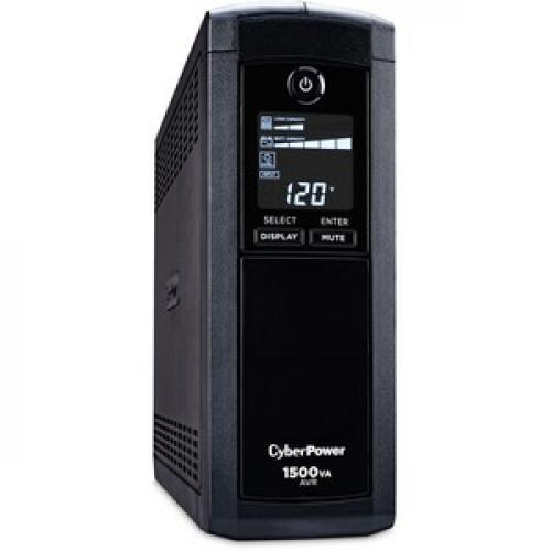 CyberPower Intelligent LCD CP1500AVRLCD 1500VA UPS Right/500
