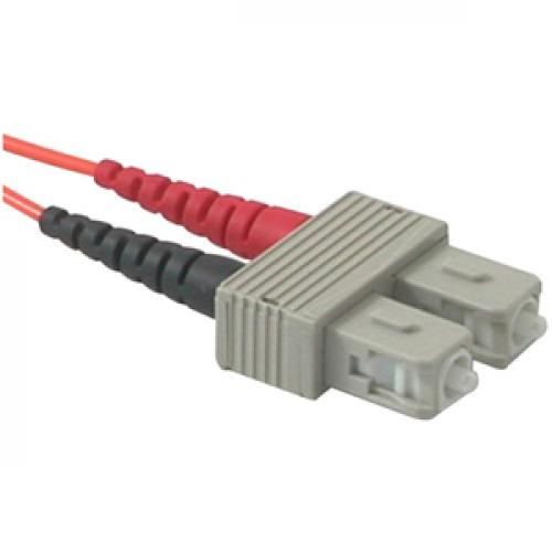 C2G 7m LC SC 62.5/125 Duplex Multimode OM1 Fiber Cable   Orange   23ft Right/500