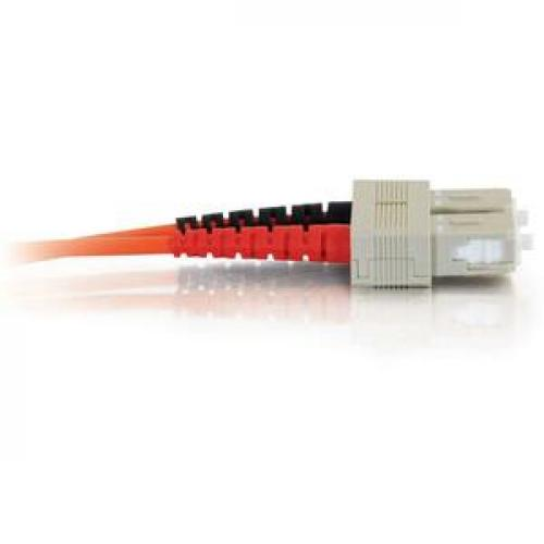 C2G 3m SC SC 62.5/125 OM1 Duplex Multimode PVC Fiber Optic Cable (USA Made)   Orange Right/500