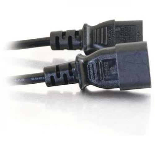 C2G 4ft 16 AWG 250 Volt Computer Power Extension Cord (IEC320C14 To IEC320C13) Right/500