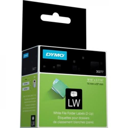 Dymo White 2 Up File Folder Labels Right/500