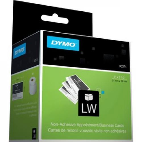 Dymo Direct Thermal Business Card   White Right/500