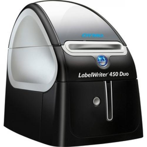 Dymo LabelWriter 450 Duo Direct Thermal Printer   Monochrome   Platinum   Label Print Right/500
