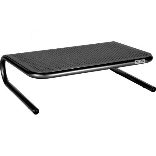 Allsop Metal Art Jr. Monitor Stand 14 Inch Wide Platform   Pearl Black (30165) Right/500