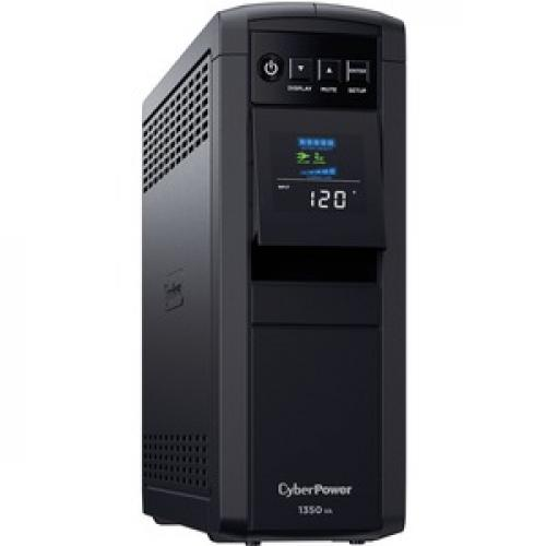 CyberPower CP1350PFCLCD UPS 1350VA 810W PFC Compatible Pure Sine Wave Right/500