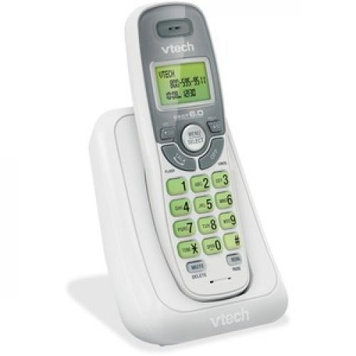 VTech CS6114 DECT 6.0 Cordless Phone With Caller ID/Call Waiting, White With 1 Handset Right/500