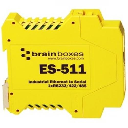 Brainboxes Industrial Ethernet To Serial 1xRS232/422/485 Right/500