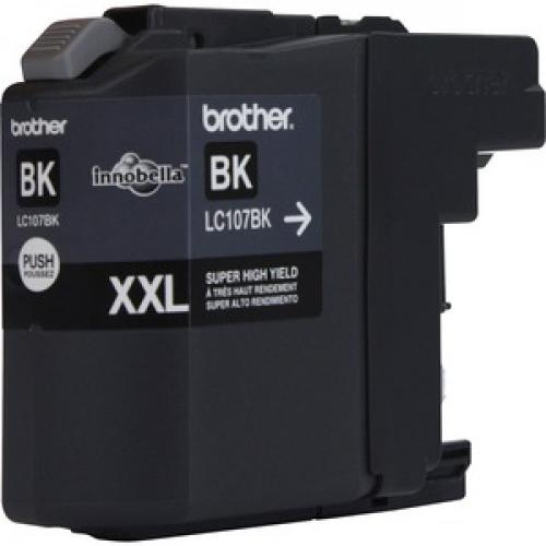 Brother Genuine Innobella LC107BK Super High Yield Black Ink Cartridge Right/500
