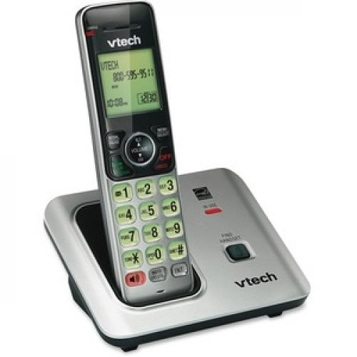 VTech CS6619 DECT 6.0 Expandable Cordless Phone With Caller ID/Call Waiting, Silver With 1 Handset Right/500