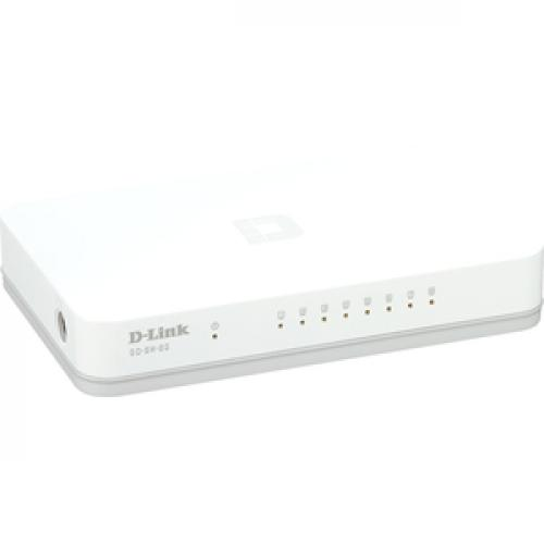 D Link GO SW 8G 8 Port Gigabit Unmanaged Desktop Switch Right/500