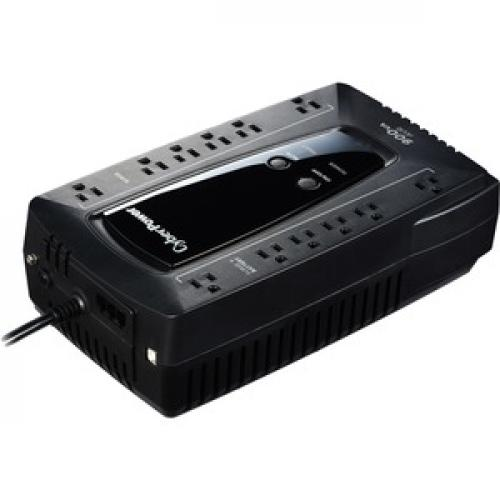 CyberPower AVR Series AVRG900U 900VA 480W Desktop UPS With AVR And USB Right/500