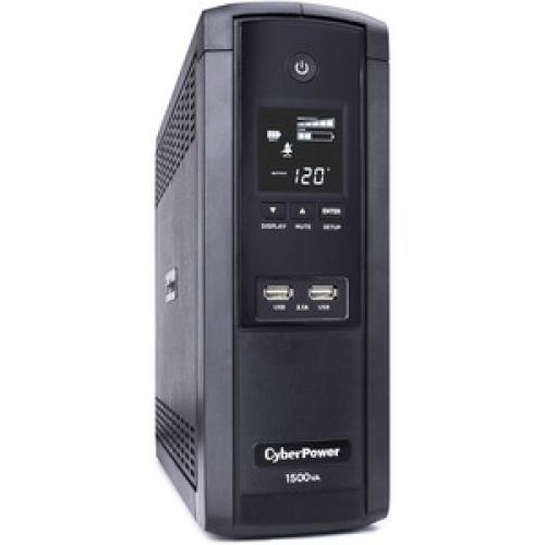 CyberPower UPS Systems BRG1500AVRLCD Intelligent LCD    Capacity: 1500 VA / 900 W Right/500
