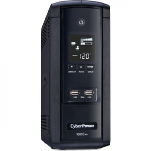 CyberPower UPS Systems BRG1000AVRLCD Intelligent LCD    Capacity: 1000 VA / 600 W Right/500