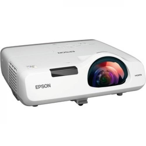 Epson PowerLite 520 Short Throw LCD Projector   4:3   White Right/500