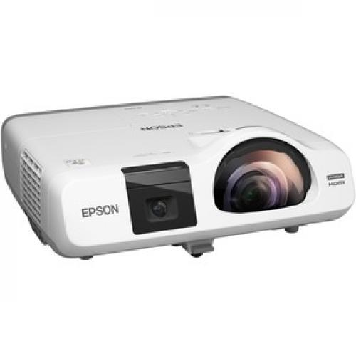 Epson BrightLink 536Wi Short Throw LCD Projector   16:10   White Right/500