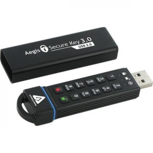 Apricorn Aegis Secure Key 3.0   USB 3.0 Flash Drive Right/500