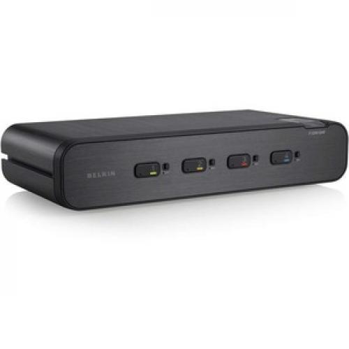 Linksys F1DN104F 3   Advanced Secure Dual Head DVI I KVM Switch; 4 Port Plus, PP3.0 Right/500