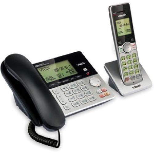 VTech CS6949 DECT 6.0 Standard Phone   Black, Silver Right/500