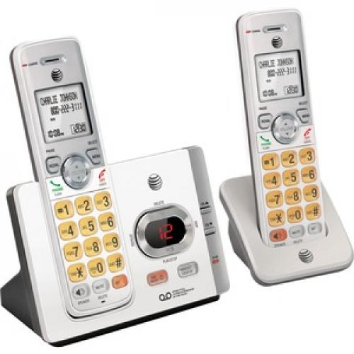 AT&T EL52215 DECT 6.0 Cordless Phone   Silver, Black Right/500