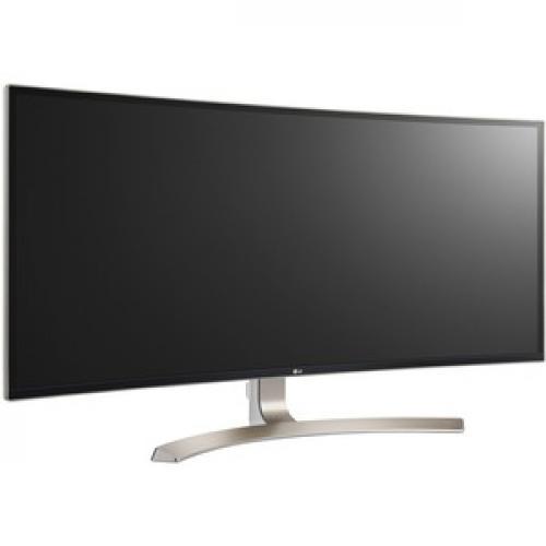 "LG Ultrawide 38UC99 W 37.5"" WQHD+ Curved Screen LED LCD Monitor   21:9   Black Right/500"