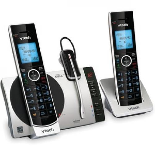 VTech Connect To Cell DS6771 3 DECT 6.0 Cordless Phone   Black, Silver Right/500