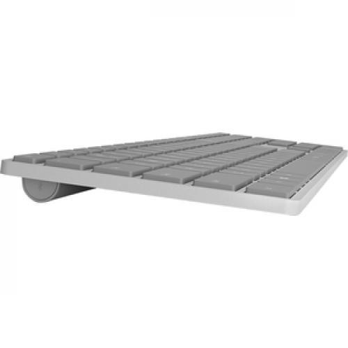 Microsoft Surface Keyboard Gray   Wireless   Bluetooth   Compatible W/ Smartphone   QWERTY Key Layout   Sleek & Simple Design Right/500