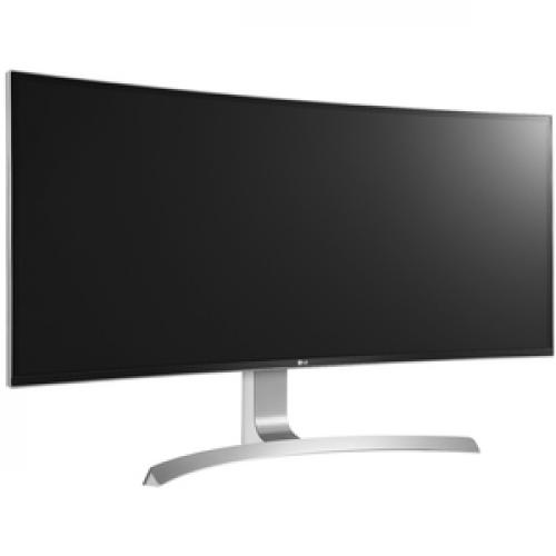 """LG Ultrawide 34CB99 W 34"""" UW QHD Curved Screen LED LCD Monitor   21:9   White   TAA Compliant Right/500"""