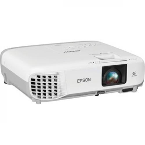 Epson PowerLite 107 LCD Projector   White, Gray Right/500