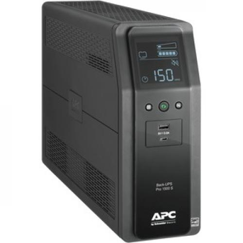 APC By Schneider Electric Back UPS Pro BR1500MS 1.5KVA Tower UPS Right/500