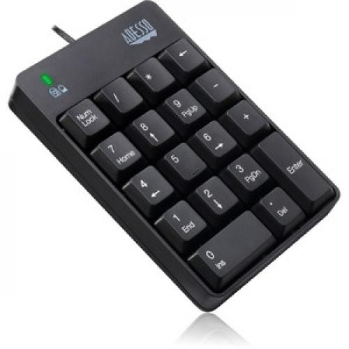 Adesso AKB 601UB   USB Spill Resistant 18 Key Numeric Keypad Right/500