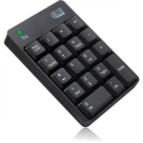 Adesso WKB 6010UB   Wireless Spill Resistant 18 Key Numeric Keypad Right/500