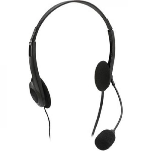 Adesso Xtream H4   3.5mm Stereo Headset With Microphone   Noise Cancelling   Wired  6 Ft Cable  Lightweight Right/500