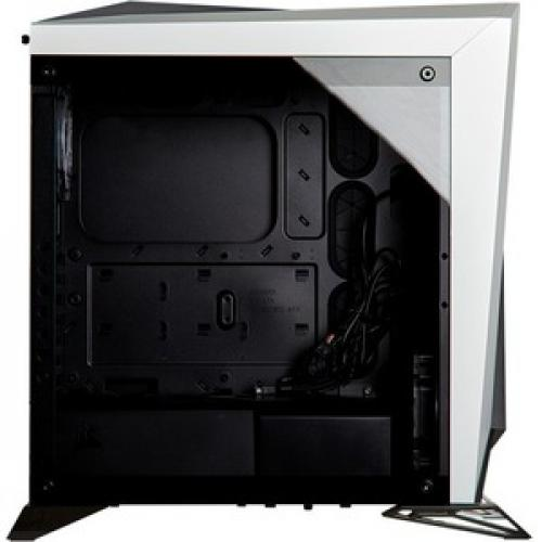 Corsair Carbide Series SPEC OMEGA RGB Mid Tower Tempered Glass Gaming Case   White Right/500