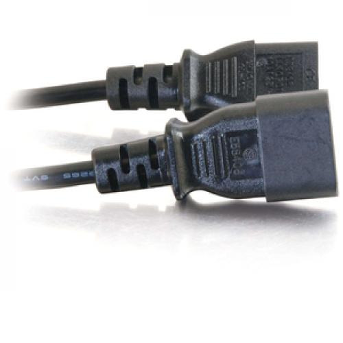 C2G 3ft Computer 18 AWG Power Cord Extension (IEC320C14 To IEC320C13) Right/500