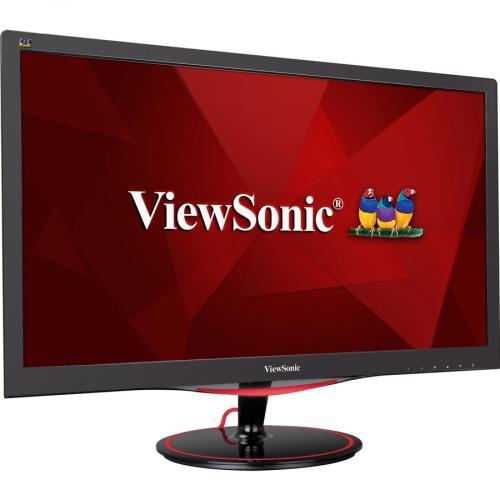 "Viewsonic VX2458 Mhd 23.6"" Full HD LED Gaming LCD Monitor   16:9   Black Red Right/500"