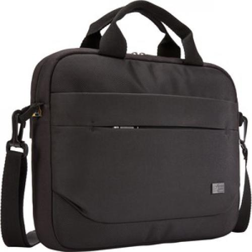 """Case Logic Advantage Carrying Case (Attaché) For 11.6"""" Notebook, Tablet PC, Pen, Portable Electronics, Cord, Cellular Phone, File   Black Right/500"""