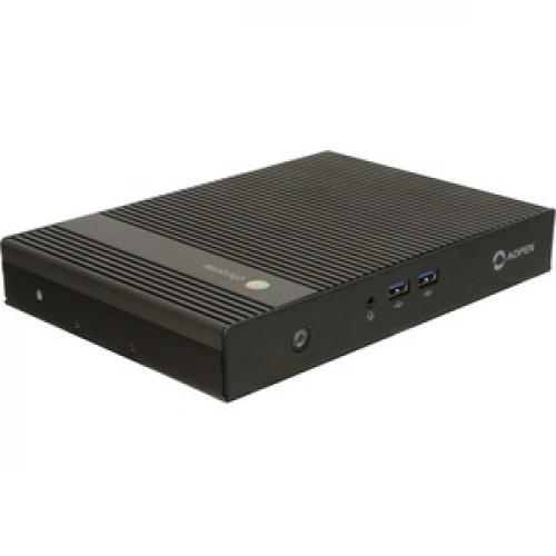 AOpen Chromebox Commercial 2 Chromebox   Intel Celeron 3865U   4 GB RAM DDR4 SDRAM   32 GB SSD   Small Form Factor   Black Right/500