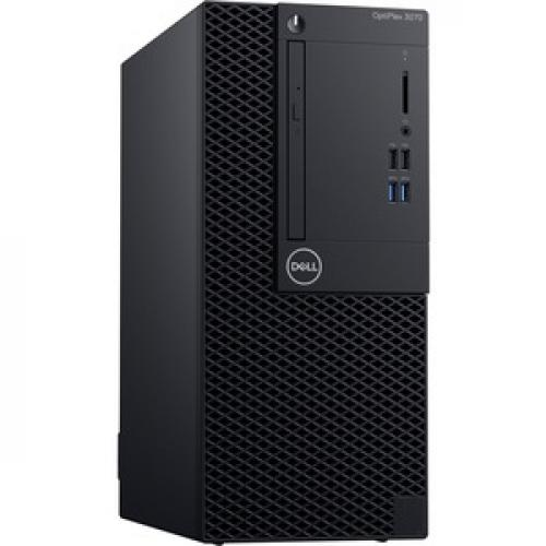 Dell OptiPlex 3000 3070 Desktop Computer   Intel Core I5 9th Gen I5 9500 3 GHz   4 GB RAM DDR4 SDRAM   500 GB HDD   Tower Right/500