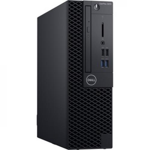 Dell OptiPlex 3000 3070 Desktop Computer   Intel Core I3 9th Gen I3 9100 3.60 GHz   4 GB RAM DDR4 SDRAM   500 GB HDD   Small Form Factor Right/500