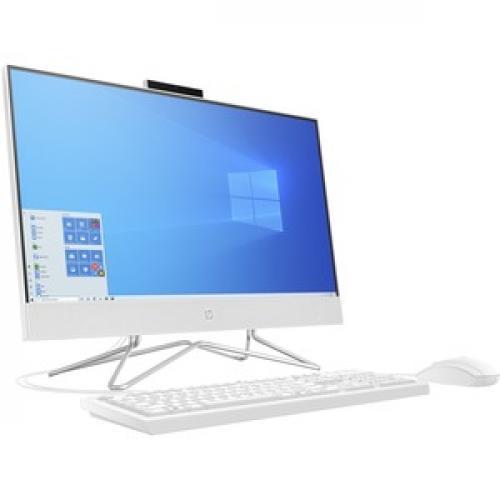 "HP 23.8"" All In One Desktop Computer AMD Athlon 3050U 8GB RAM 256GB SSD   AMD Athlon 3050U Dual Core   USB Wired Keyboard & Mouse Included   DVD Writer   AMD Radeon Graphics   Windows 10 Home Right/500"