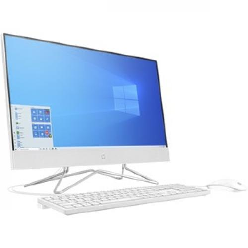 "HP 24 Series 23.8"" All In One Desktop Computer Intel Core I5 12GB RAM 512GB SSD Snow White   10th Gen I5 1035G1 Quad Core   USB Wired Keyboard & Mouse Included   3 In 1 Memory Card Reader   DVD Writer   Windows 10 Home Right/500"