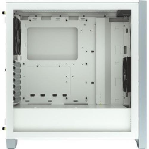 Corsair 4000D Tempered Glass Mid Tower ATX Case   White Right/500