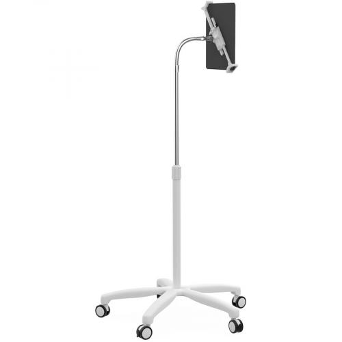 CTA Digital Heavy Duty Medical Mobile Floor Stand For 7 13 Inch Tablets (White) Right/500