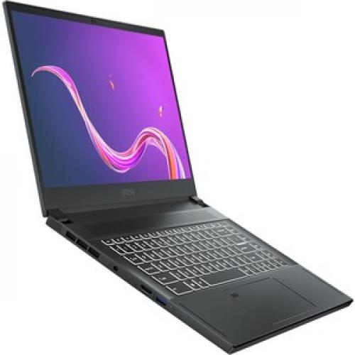 """MSI Creator 15 Creator 15 A10SD 015 15.6"""" Gaming Notebook   Full HD   1920 X 1080   Intel Core I7 (10th Gen) I7 10750H 2.60 GHz   16 GB RAM   512 GB SSD   Space Gray With Silver Diamond Cut Right/500"""