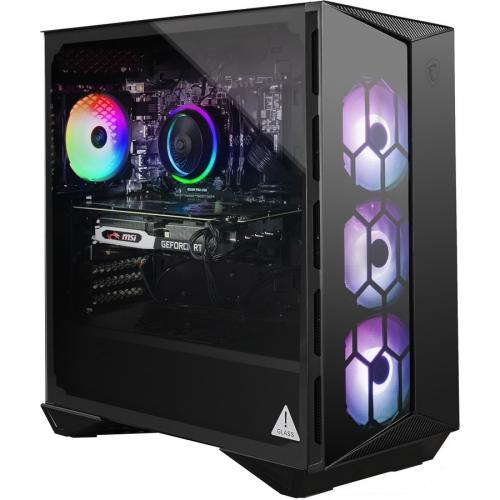 "MSI Aegis R 10SC 210US Gaming Desktop Computer   Intel Core I7 10th Gen I7 10700 Octa Core (8 Core) 2.90 GHz   16 GB RAM DDR4 SDRAM   1 TB HDD   1 TB 2.5"" Serial ATA SSD   Matte Black Right/500"