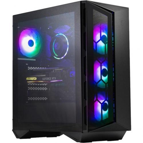 MSI Aegis RS 10DS 217US Gaming Desktop Computer   Intel Core I7 10th Gen I7 10700K Octa Core (8 Core) 3.80 GHz   16 GB RAM DDR4 SDRAM   1 TB HDD   1 TB M.2 PCI Express NVMe SSD   Black Right/500