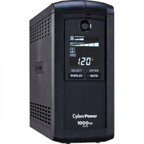 CyberPower Intelligent LCD CP1000AVRLCD 1000VA Tower UPS Right/500